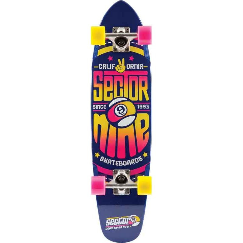 Skate Cruiser Sector 9 Wedge Complete with Led wheels