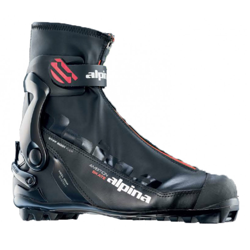 Cross Country Skating Shoe ASK Red Alpina Nordic Shop Online - Alpina skate ski boots