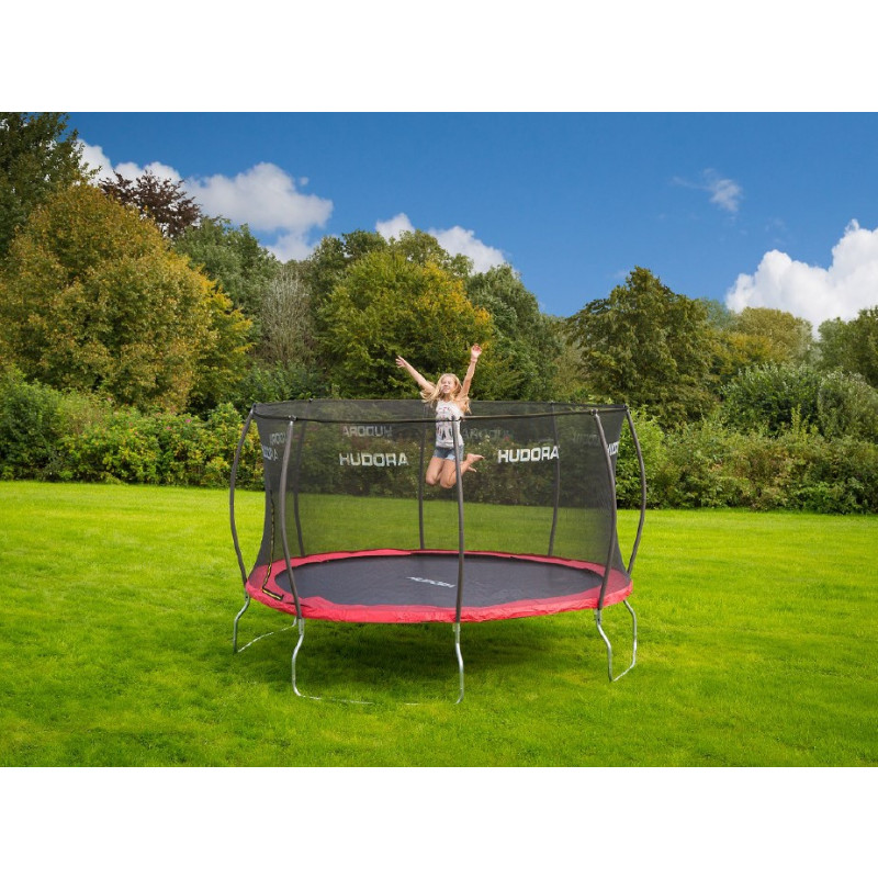 trampoline hudora fantastic 400 cm avec filet de s curit achat en ligne shop sportmania. Black Bedroom Furniture Sets. Home Design Ideas