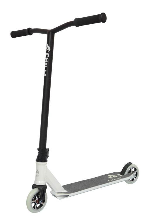 freestyle scooter chilli 5100 hic 110mm xxl t bar white black stunt scooter shop switzerland. Black Bedroom Furniture Sets. Home Design Ideas
